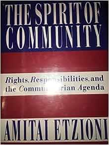 New community amitai etzioni essay