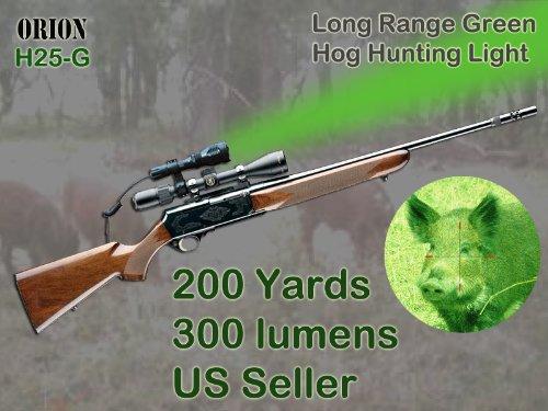 orion h25 g 250 yard green rechargeable led hog hunting. Black Bedroom Furniture Sets. Home Design Ideas