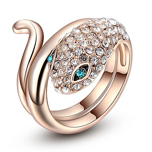 Dream Alice Rose Gold Austrian Crystal Ring.The Blue Eye Snake (Ring Size Chart Online compare prices)
