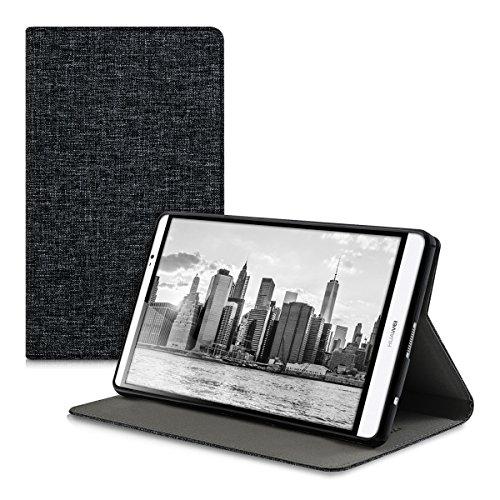 kwmobile-custodia-per-huawei-mediapad-m2-80-con-rivestimento-in-stoffa-e-sostegno-con-design-tessuto