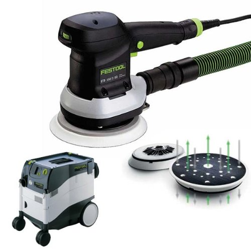 "Festool Ets 150/3 Eq 6"" Random Orbital Sander + Ct 33 E Dust Extractor Package front-556319"