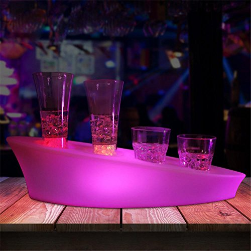 Led Light Bar Tray Bar Ktv Light Wine Rack Charging Remote Control Colorful Personality Jack Glass Holder , 4 Hole Cup Holder