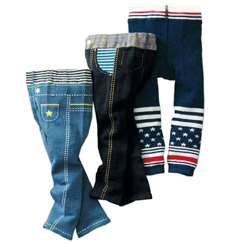 3Pcs 1-6T Boy Jeans Pants Infant Legging Tights Legs Baby Genoese Trousers Cloth