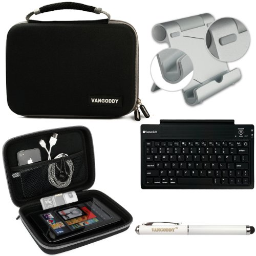 Harlin Cube Carrying Case For Hp Slate 8 Plus Android Tablet + Bluetooth Keyboard + Foldable Stand + Stylus Pen
