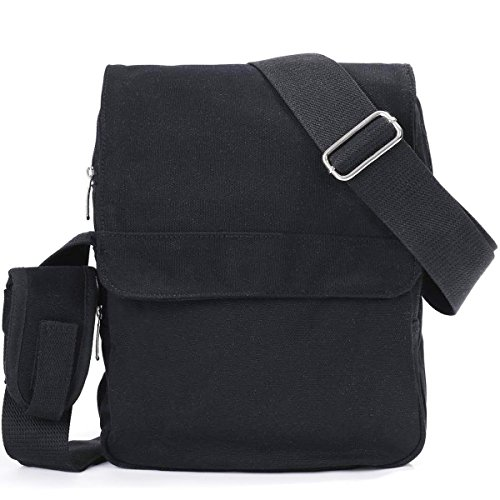 eshow-mens-small-canvas-briefcase-cross-body-messenger-shoulder-casual-satchel-bags-black