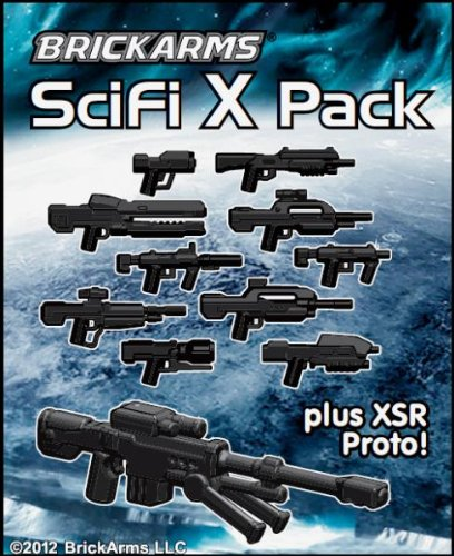 BrickArms-25-Scale-Weapon-Pack-Set-of-all-11-Sci-Fi-X-Series-Weapons-Black