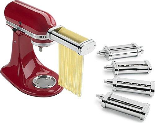 KitchenAid Pasta Deluxe Set (Pasta Roller, Spaghetti Cutter, Fettuccine Cutter, Capellini Cutter, Lasagnette Cutter) (Pasta Cutter Set compare prices)