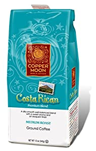 Copper Moon Costa Rican Coffee, Medium Roast, Whole Bean, 12-Ounce Bag