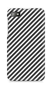 Amez designer printed 3d premium high quality back case cover for BlackBerry Z10 (Black n White Pattern2)