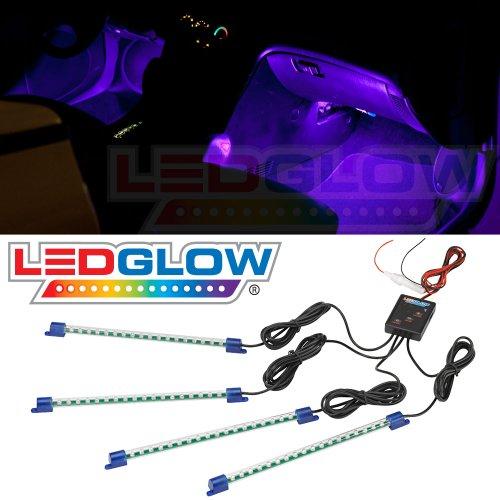 4pc. Purple LED Interior Underdash Lighting Kit