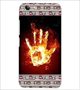 PrintDhaba flamming Hand D-6030 Back Case Cover for LENOVO VIBE K5 (Multi-Coloured)