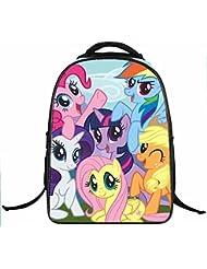 B-JOY Little Girls' My Little Pony 16 Inch Backpack 3D Animal Print School Bag Students Rucksack (My Little Pony_N1)