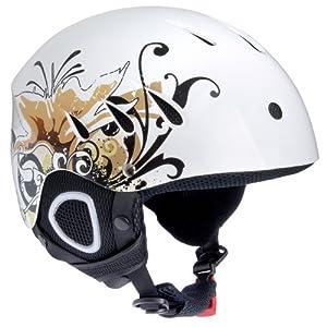 Ultrasport, Modèle 2011, Casque de ski/snowboard Race édition haut de gamme, Blanc avec design, 59 60 cm (L)