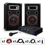 DJ PA-Set DJ-14 1600W Musik-Karaoke-A...
