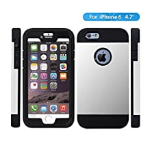 buy Iphone 6 Case,Olg Tech [Hybrid Tough] Dual Layer Protective Armor Case For Iphone 6 (4.7-Inch)-Iphone 6 Cover With Shock Absorptive Inner Layer/High Quality Case- Retail Packaging (Iphone 6 (4.7), White)
