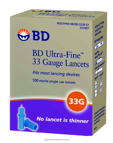 Bd Ultra-Fine Lancet, Lancet 33G, (1 Box, 100 Each)