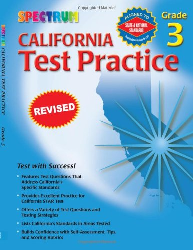 Spectrum State Specific: California Test Practice, Grade 3 front-999907