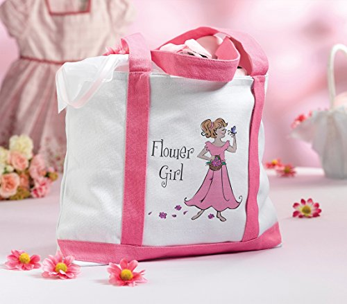 Lillian Rose Flower Girl Nylon Tote Bag, 15-Inch by 10-Inch