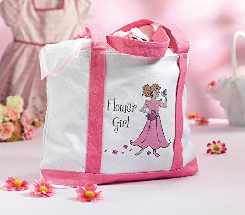 Lillian Rose Flower Girl Nylon Tote Bag, 15-Inch by 10-Inch