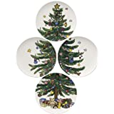 Nikko Christmas Giftware Accent Salad Plate Set 8 1 4 Inch Coordinated Set of 4