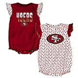 NFL San Francisco 49ers Creeper Set, 0-3 Months, Crimson