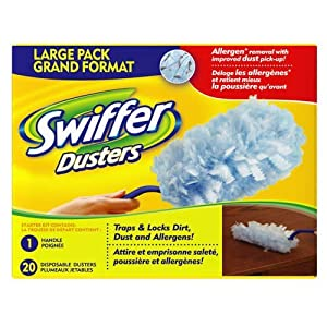 Swiffer Dusters Starter Pack. 1 handle, 20 disposable dusters.