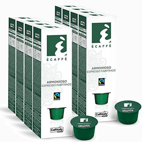 Choose 80 Ècaffè Fairtrade Capsules Espresso Solidale ARMONIOSO from Caffitaly System