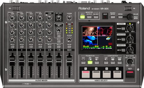 Fantastic Deal! Roland VR-3EX All-in-One A/V Mixer with USB port for Web Streaming and Recording