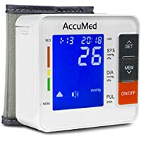 AccuMed ABP801 Portable Wrist Blood Pressure Monitor (White)