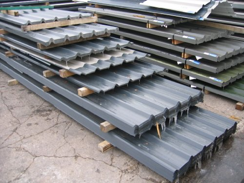 Box Profile Galvanised Steel Roofing Sheets with Polyester Coated Smooth Finish RHINO STEEL CLADDING (Tel: 01675 462 692)