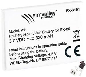 """simvalley MOBILE Reserve-Akku für RX-80 """"Pico V.1"""" & RX-80 """"Pico V.2"""""""