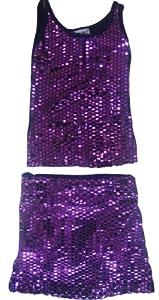 ensemble jupe et son top paillettes enfant fille gamino violet 4ans b b s pu riculture. Black Bedroom Furniture Sets. Home Design Ideas