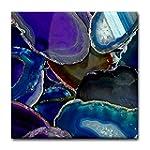CafePress Blue Agate Rocks Tile Coast...