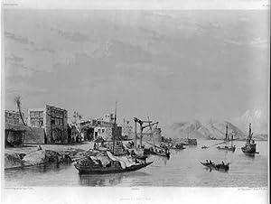 Photo: Eugene Flandin,voyages,Persia,harbor,Bushire,gulf,c1851