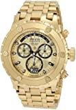 Invicta Men's 1568 Reserve Chronograph Gold Dial 18k Gold Ion-Plated Stainless Steel Watch