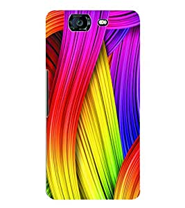 Fuson 3D Printed Coloured Pattern Designer Back Case Cover for Micromax Canvas Knight A350 - D976
