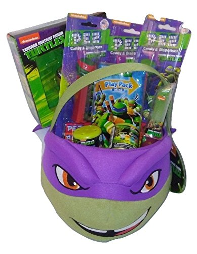 [Teenage Mutant Ninja Turtle Donatello Birthday Gift Bundle Set Plush Basket] (Plush Turtle Kids Costumes)