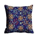 MeSleep Digitally Printed Abstract Micro Fabric Cushion Cover - Blue (CDEK-41)