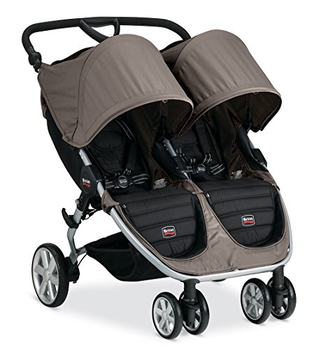 Britax B-Agile Double Stroller, Sandstone - 1