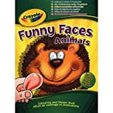 2 X Crayola Funny Faces Colouring and Sticker Book (People or Animals)