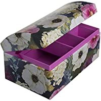 Dome Jewelry Box with Mirror (Unicorns, Owls or Flowers)