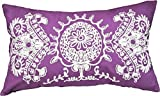 Designer's Special Pattern Embroidery Decorative Throw Pillow COVER 20x12