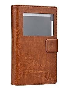 Jo Jo Cover Corbett Series Leather Pouch Flip Case For HTC Desire 600 dual sim Dark Brown