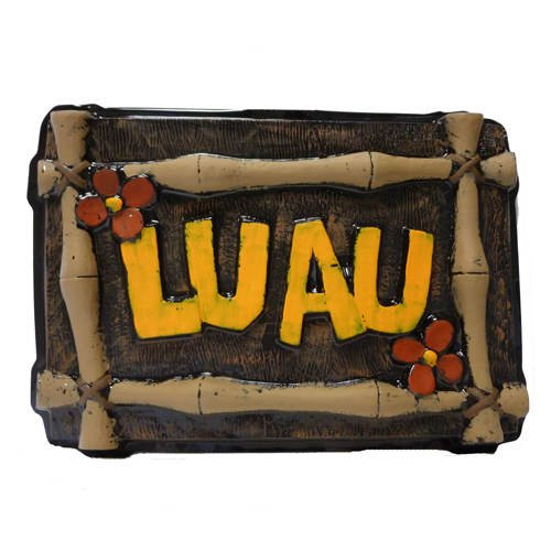 Hawaii Wand-Dekoration Luau, schwarz-braun-orange