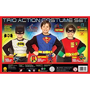 Rubies Costume Co. DC Comics Boys Trio Action Set Dress Up Trunk