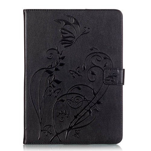 WITCASE Samsung Galaxy Tab S2 9.7 folio Case, Embossing, Kickstand ,Card Pocket Folio Leather Case Cover for Galaxy Tab S2 Tablet 9.7 inch, SM-T810 T815 (Black) (Samsung Galaxy S2 Otter Case compare prices)