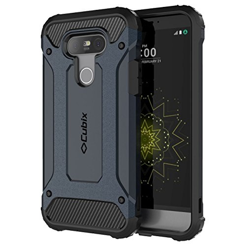 Cubix Impact Hybrid Armor Defender Case For LG G5 (Navy Blue)