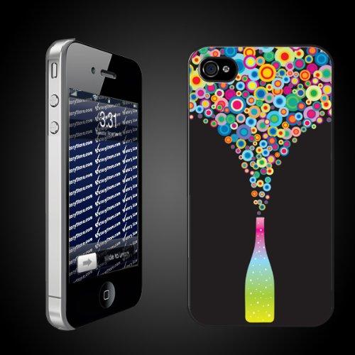 Multi-colored Wine Bottle iPhone Hard Case