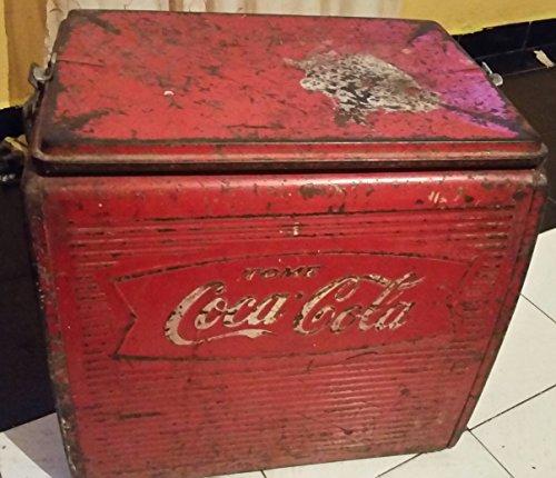 Vintage Coca Cola Coke 1950's Cooler Freezer In Fair Condition RARE (Vintage Coke Cooler compare prices)