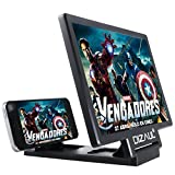 Screen Magnifier,Dizaul Cell Phone 3D HD Movie Video Amplifier with Foldable Holder Stand for iPhone 7/7 Plus/6/6s/6 Plus/6s Plus, Samsung Galaxy S7/ S7 Edge/ Note 7&All other Smart Phones (Black)